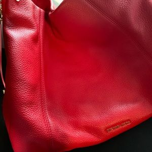 MICHAEL KORS red large lex hobo